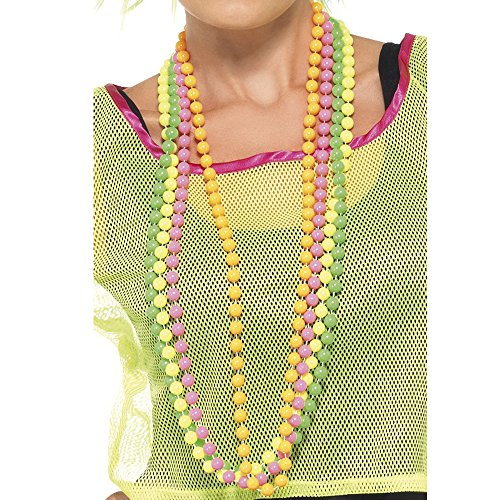 Neon Bead Necklaces x4