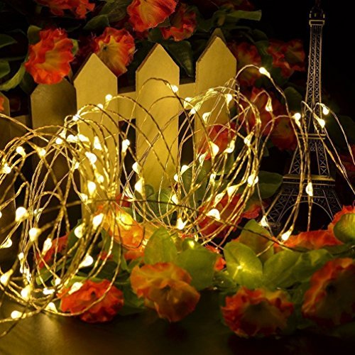 20LED Lichterkette für innen und außen Farbwahl für Valentinstag, Weinachten, Hochzeit Fest und Party