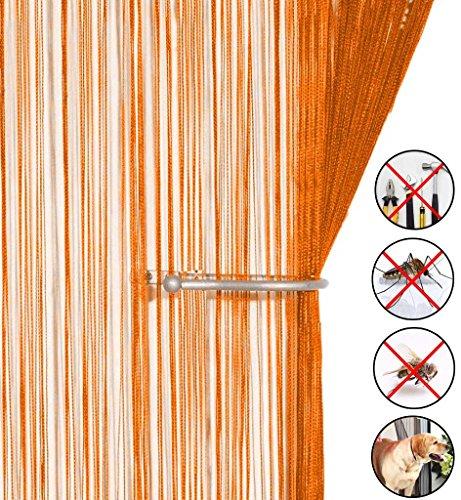 ... AIZESI Retro Fadenvorhang Insektenschutz Türvorhang 90x 200cm Trennwand  Fenster Vorhang(Orange) ...