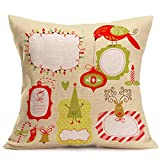 TEBAISE Dekorative Kissenbezüge Einzigartige Designs Weihnachts Kissenhülle Dekoration 43 x 43 cm Weihnachten Sofa Kissen Cover - ideal für Weihnachtspartys Festival und Dekoration