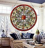 makenier Vintage Tiffany-Stil gebeizt Art Glas Fenster Panel Wand-Libelle zum Aufhängen
