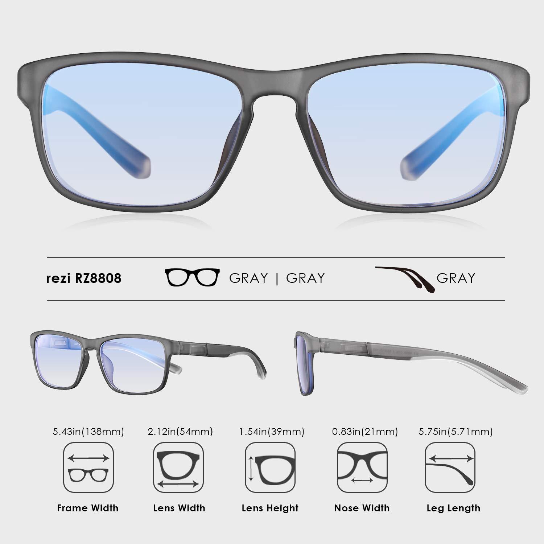 4768ec866e Rezi Gafas de ordenador Gafas Lectura para Protección contra Luz ...