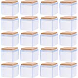 DOITOOL 20 piezas de silicona para patas de silla protectores de suelo para muebles de silicona transparente para interior y