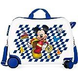 Disney Mickey Good Mood Maleta Infantil Multicolor 50x38x20 cms Rígida ABS Cierre combinación 34L 2,1Kgs 4 Ruedas Equipaje de