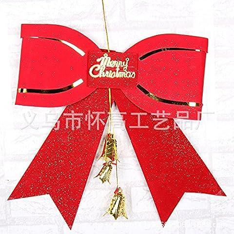 qwer Le decorazioni di Natale Decorazione per albero di Natale Natale pensile con Ling Dang bow tie nodi con Ling Dang tree top bow tie D2-6 (grande)