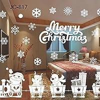 Ice.mask Adornos navideños para navidad Adornos navideños para ventanas Pegatinas de vidrio Pegatinas Exhibición