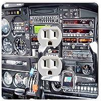 Rikki Knight Flight Airplane Cockpit Single Outlet Plate