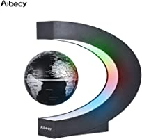 C Shape LED World Map Floating Globe Tellurion Magnetic Levitation Light Antigravity magic/novel light
