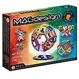 Blocchi Magnetici Arcobaleno di MAdesign con Serie da 48 Pezzi Ispirati alla Construzione Carnival Set Creativo e Ruota Panoramica Giocattolo Istruttivo con Pellicola