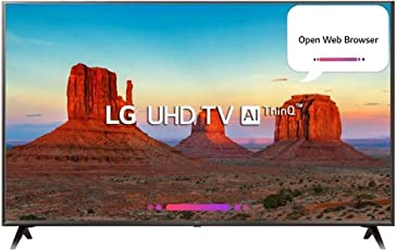 LG 108 cm (43 inches) 43UK6360PTE 4K LED Smart TV (Black)