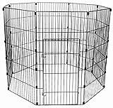 Bild: IRIS Auslauf  Freigehege Wire Pet Circle für Hunde  Haustiere Kunststoff silber 60 x 121 cm 1 Panel