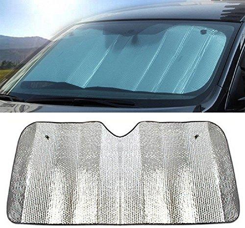 Hosaire Coche delantero parabrisas Parasol excelente UV calor y sol reflector fácil de usar sol shade-silver (140*70CM)