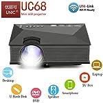 UNIC UC68 FullHD LED WiFi Projector 1800 lumi/Airplay/Miracast/HDMI/USB/SD/AV/VGA/DLAN/YouTube with Theater Effect...