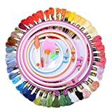 KING DO WAY Full Range of Embroidery Embroidery Hoop 50 X available Colors Aida and Needles Set Kit Cross Stitch Tool Threads