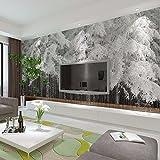 HHCYY Schnee Zedernkiefern Waldlandschaft 3D Wandbilder Für Wohnzimmer Bürozimmer Tapeten400cmx280cm