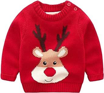 Aden B/éb/é Filles Gar/çons Chandail No/ël Imprim/é Pullover Tricots Sweatshirt Pull Sweater