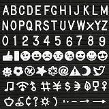 Kesoto Letras de Plástico para Pizarra de Fieltro -- 190 Piezas de Números, Símbolos, Alfabetos y...