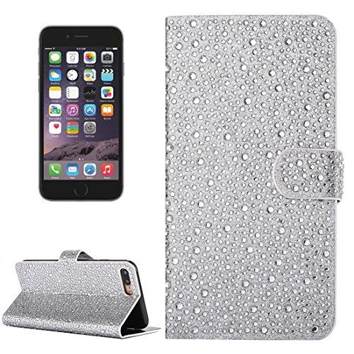 Phone case & Hülle Für iPhone 6 / 6s, Regentropfen Pattern Horizontale Flip Leder Tasche mit Halter & Card Slots ( Color : Dark red ) Silver