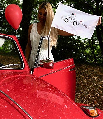 2x bandera de coche para la boda - bandera de la boda - coche de la bandera de la boda - decoración de la boda - accesorios de la boda - accesorios de la boda - accesorios de la boda del coche de la decoración de la boda - regalo de la boda - joyería de la boda