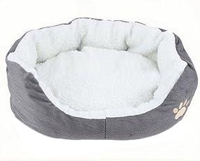 hosaire 1x Hundebett Katzenbett, Hunde/Katzen Tiere Größe L (60* 50* 22cm) grün