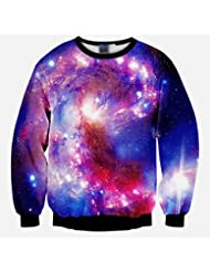 Autumn And Winter Men 'S Clothes Long Sleeved Round Collar Sweater 3D Printing Starry Sky