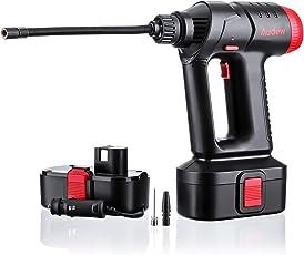 Audew Kompressor Luft Auto Pumpe Kabelloser Luftverdichter Elektrische Luftpumpe Digital Portable mit LED Licht LCD Bildschirm inklusiv Akku und Auto-Adapter 12V