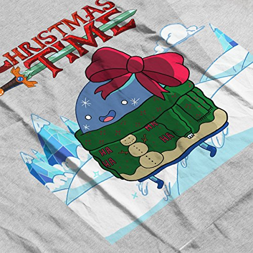 Adventure Christmas Time Bow Ice World Cartoon Network Men's Vest Heather Grey