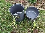 Gearmax® Tragbar Outdoor Cooking Set Eloxiertem Aluminium Non-Stick Pot Schüssel Kochgeschirr Camping Picknick Wandern Utensilien für eine Person