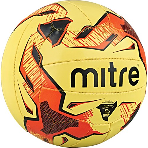 Mitre tactic, pallone da calcio da allenamento, colore giallo (yellow/red/black), taglia 4