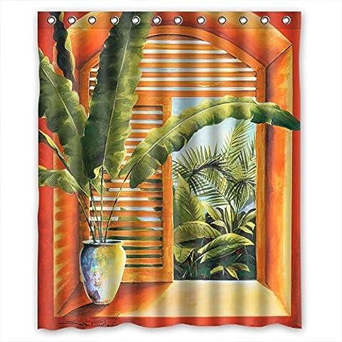 Sunsmiles Rideaux de douche Art de salle de bain drapé Largeur x Hauteur/152,4x 182,9cm/L * H 150par 180cm Home Fashion sèche rapidement européens et américains Style Western et Occident Style Art Peinture