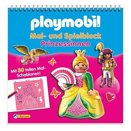 Preisvergleich Produktbild Playmobil Mal- und Spielblock Prinzessinnen: Mit 30 tollen Mal-Schablonen!