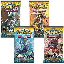 Pokemon TCG Sun & Moon Booster Packs x4 Packs (Pokemon) [importación inglesa]