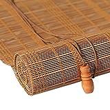 JU FU Rollo Bambus Vorhang - natürliche Nanmu Kordelzug Bambus Vorhang staubdicht und Wasserdicht Hohlen Tee Zimmer Shutter [3 Farben 23 Größen] @ (Farbe : B, größe : 80x200cm)
