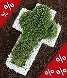Pflanzschale / Blumenschale Gitter Steinkorb Kreuz bellissa 50x30x4cm