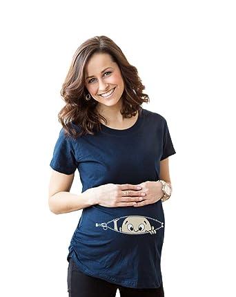 Top MissFox Sweet Baby Magliette Premaman Divertente Stampa T-shirt  QK23