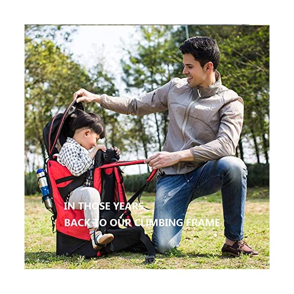 Lixada Baby Backpack Hiking Toddler Child Holder Backpack with Sunshade Visor  Bearing capacity up to 55lb. Padded sitting compartment with safety belt and back cushion. Comfortable for baby to put feet on with kickstand. 8