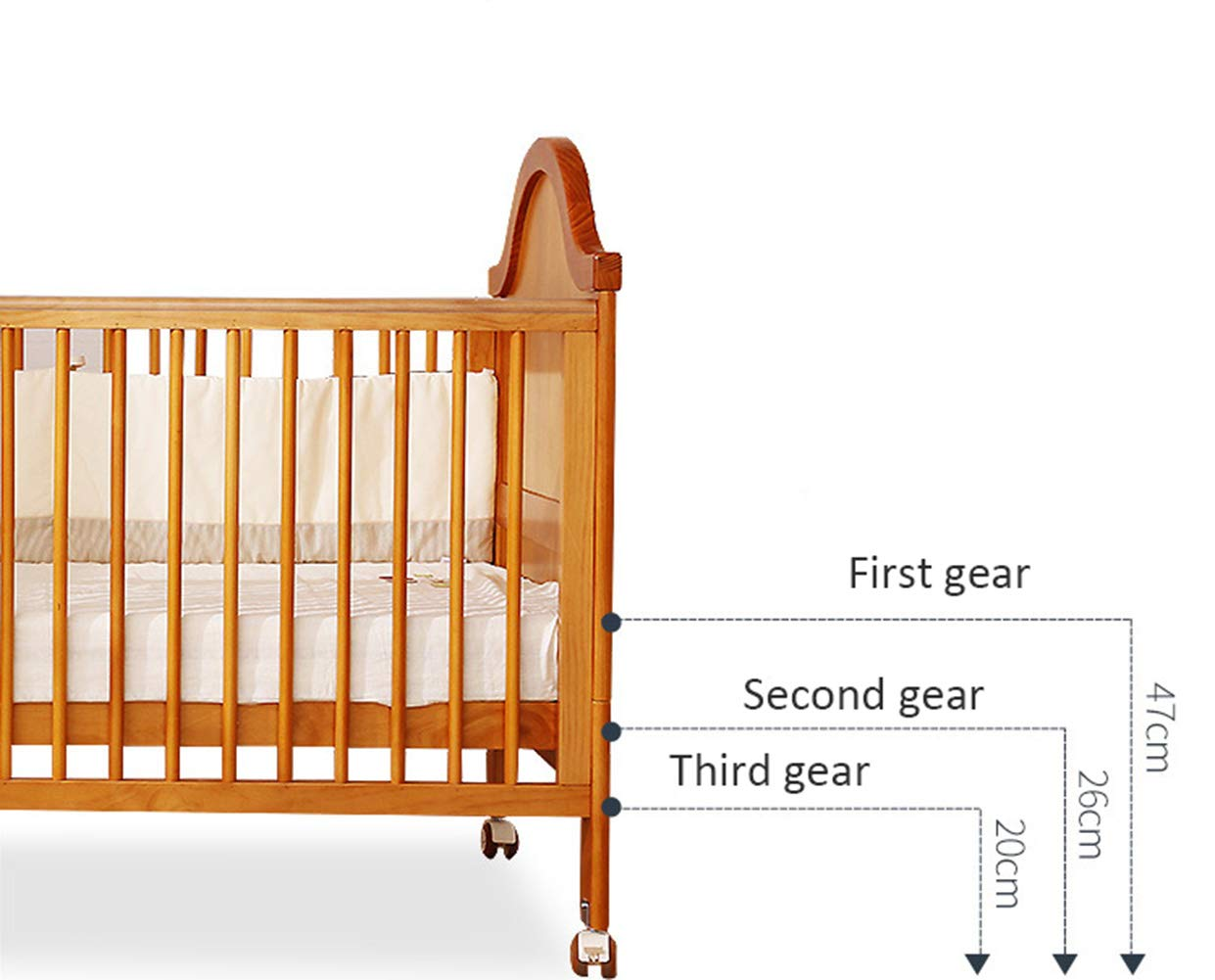 XUNMAIFLB Removable Wooden Baby Cot Bed, Toddler Bed, Solid Wood (inner Diameter: 1400 * 700mm) Multi-functional Crib, Play Bed Safety, Brown, 1460 * 774 * 1148mm XUNMAIFLB Rugged and durable: the wood is durable, oil-free, non-discoloring, and does not crack, increasing the life of the bed. Lockers: Large-capacity lockers, and more baby items can be stored in an orderly manner. It is important to see them easily and to take them easily. Strong load-bearing solid wood bed: widened and thickened skeleton The moon ship coir mattress has a static load of 50kg. 4