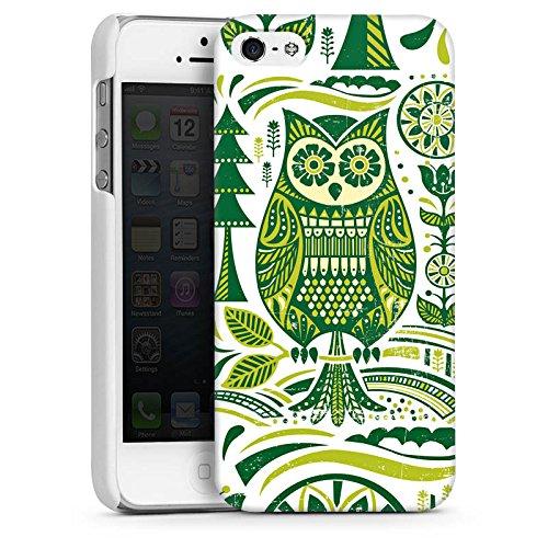 Apple iPhone 4 Housse Étui Silicone Coque Protection Hibou Hibou Hibou CasDur blanc