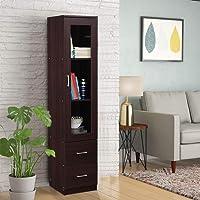 HomeTown Finn Engineered Wood Storage Cabinet in Beech Chocolate Colour