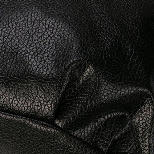 Mode Handtasche Frau PU Satchel Tote Leder Geschenk Umhängetasche Schwarz Schultertasche Damen VJGOAL Crossbody Messenger gZqaxPEw