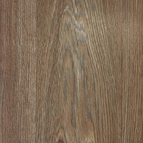 PVC-Boden Paneele im Landhausdielen-Stil in Walnuss Optik | Vinylboden 4m Breite & 4m Länge | Fußbodenheizung geeignet | PVC Platten strapazierfähig & pflegeleicht er Fußboden-Belag -