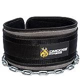 Premium Dip Gürtel mit Kette von DMoose Fitness - 36