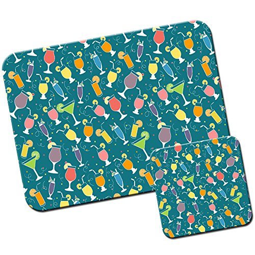 colourful-cocktail-bonanza-mouse-mat-pad-and-coaster-set