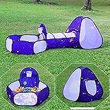 Homfu Kinder Spiel-Zelt für Jungen Mädchen draußen Camping Reisen Kinder Spiel-Zelt mit Pop-up Design Krabbel Tunnel (Lila)