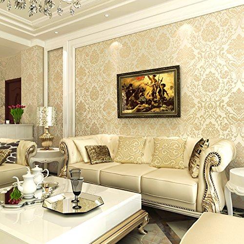 Zhzhco Non-Woven Tapeten-Stil Schlafzimmer Wohnzimmer Tv Hintergrundbild (0,53 M * 10 M)