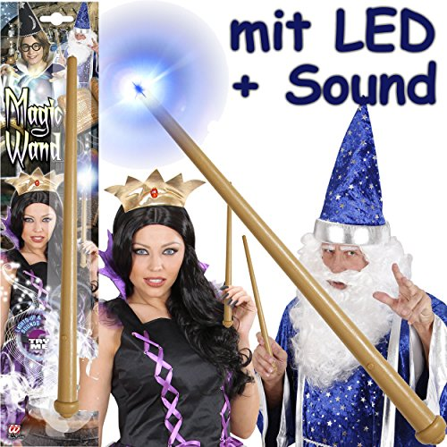 Zauberstab * MAGIC WAND * mit LED + SOUND für (Kinder-) Geburtstag, Hexen- oder Harry-Potter-Mottoparty // Kinder Geburtstag Party Motto (Zauberstab-sound Potter Harry)