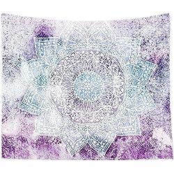 Hangood Algodón India Mandala Decorativo Bohemio Hippie Wall colgando tapiz 229 x 150cm
