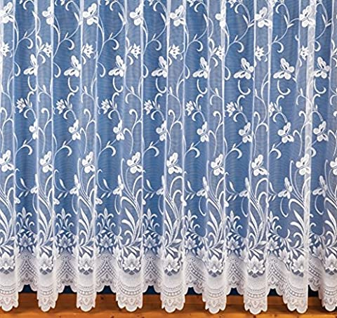 ShawsDirect Ready to Hang Butterfly Lace Curtain (100