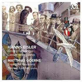 Hanns Eisler: Ernste Ges�nge - Lieder with piano