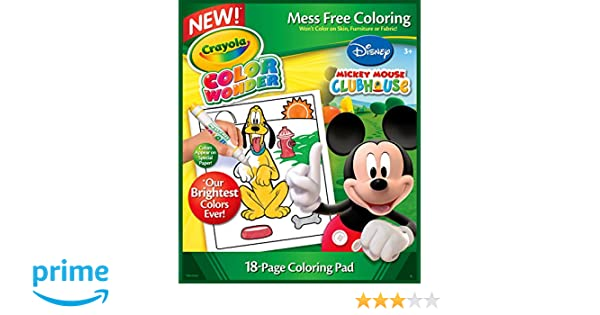 Crayola Color Wonder Coloring Book Mickey 18P